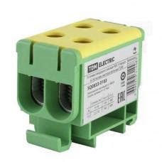 Клемма вводная силовая КВС 4 ввода 6-50 кв.мм.  желтая/зеленая