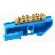 """Шина """"N"""" нулевая в изоляторе на DIN-рейку 8x12мм 12 группTDM"""