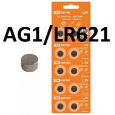 Элемент питания AG1/LR621 Alkaline 1,5V BP-10 TDM