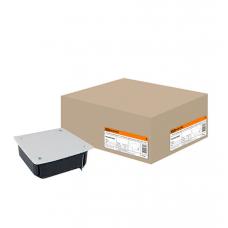 Распаячная коробка СП 115х115х45мм, крышка, метал. лапки,IP20, TDM
