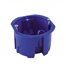 Установочная коробка СП D68х45мм, саморезы , синяя,IP20, TDM