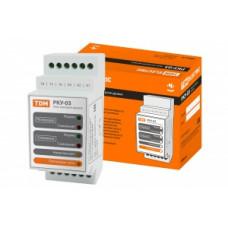 Реле контроля уровня РКУ-03-1нас/2рез/4ур/ 6датч -230/400В-DIN (без датчиков) TDM