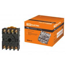 Разъем Р11Ц - цокольный 11-pin на DIN-рейку/плоскость TDM