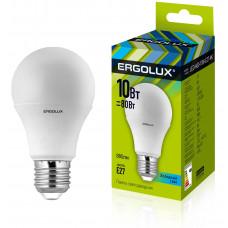 Лампа LED A60 10W E27 4K светодиодная Ergolux(100шт)