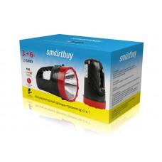 Аккумуляторный фонарь-прожектор 2 в 1 3W+6 SMD, черный (SBF-400-K)