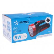 Фонарь светодиодный,аккумуляторный КОСМОС ЭКОНОМИК (9105) 1х5WLED,зарядка 220V