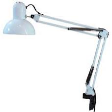 Уютель UT-800В настольная лампа Е27 60W, белая, на струбцине,шнур 1,5м, 220V /16/