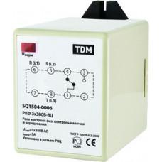 Реле контроля фаз РКФ 3х380В-8Ц TDM