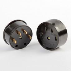 Разъем Smartbuy, для плиты 32А 380В 3P+PE (ОУ) карболитовый черный (SBE-IS1-380-C), шт