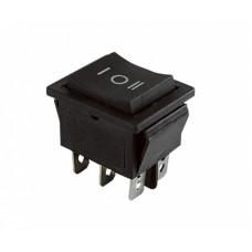 Клавишный переключатель YL-206 черный 3 положения 2з+2з TDM*