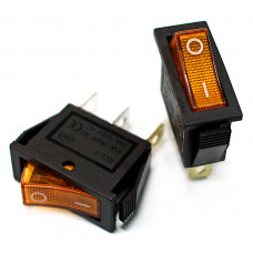 Клавишный переключатель IRS-101-Y желтый с подсветкой 2 положения 1з TDM*