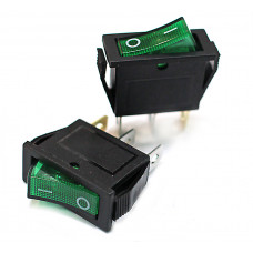 Клавишный переключатель IRS-101-G зеленый с подсветкой 2 положения 1з TDM*