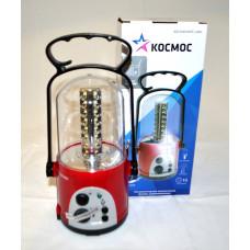 Фонарь кемпинговый аккумуляторный с радио КОСМОС 6010LED 32хLED 4V 2Ah